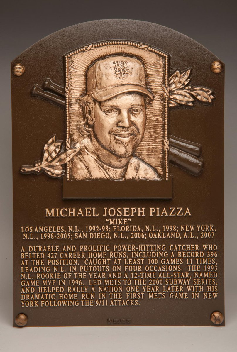Get your first look at Mike Piazza's Hall of Fame plaque -
