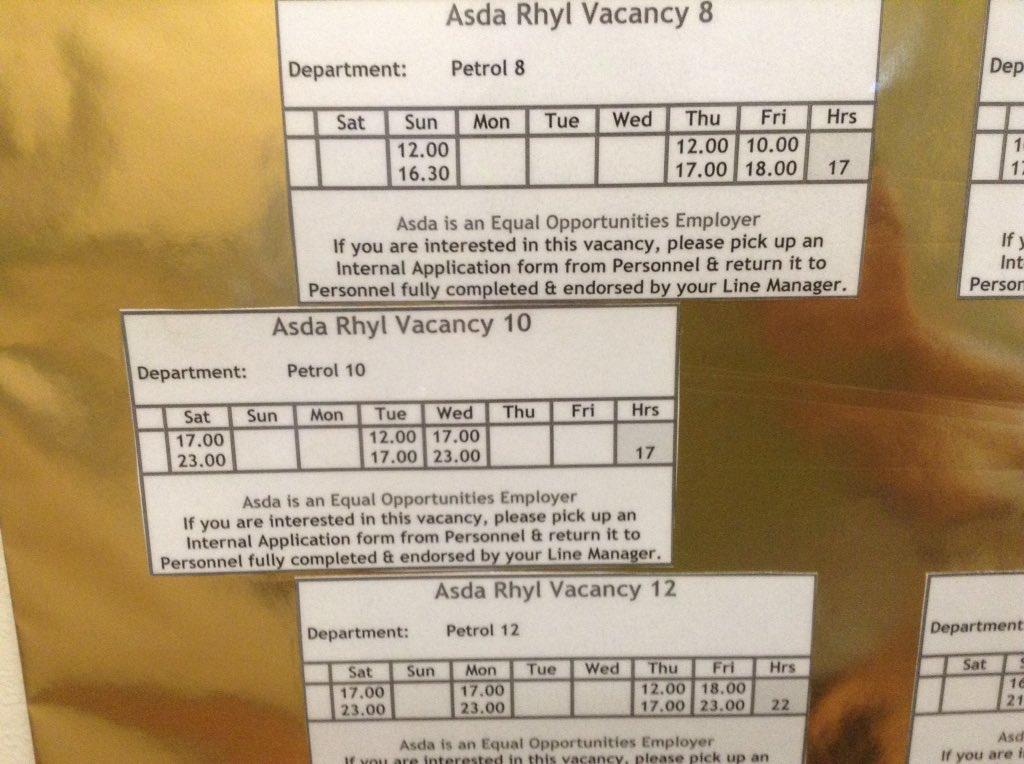 Asda Rhyl On Twitter New Petrol Job Vacancies Going Online Tuesday