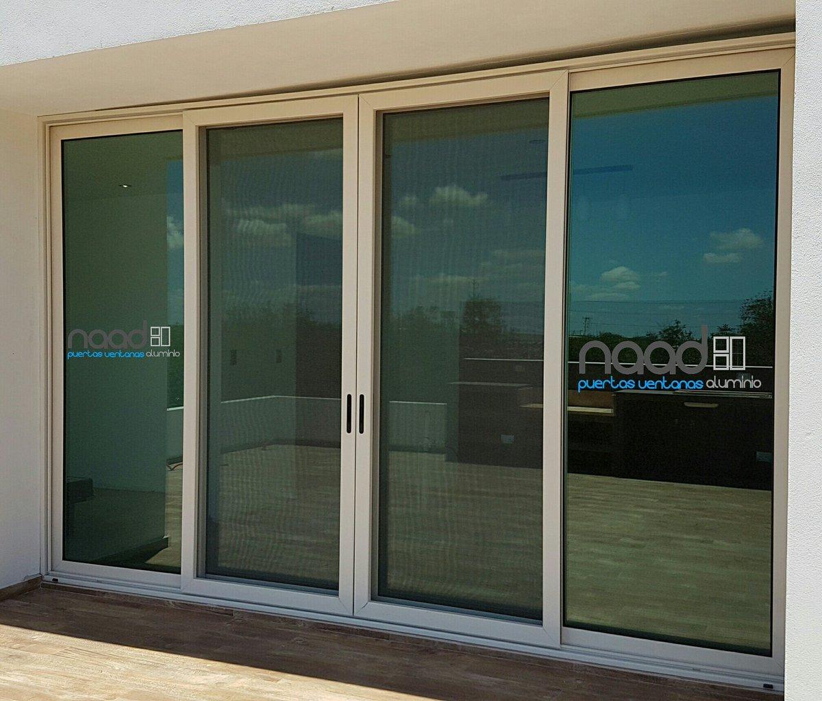 Naad aluminio on twitter puerta corrediza 4 hojas - Puertas corredizas de vidrio ...