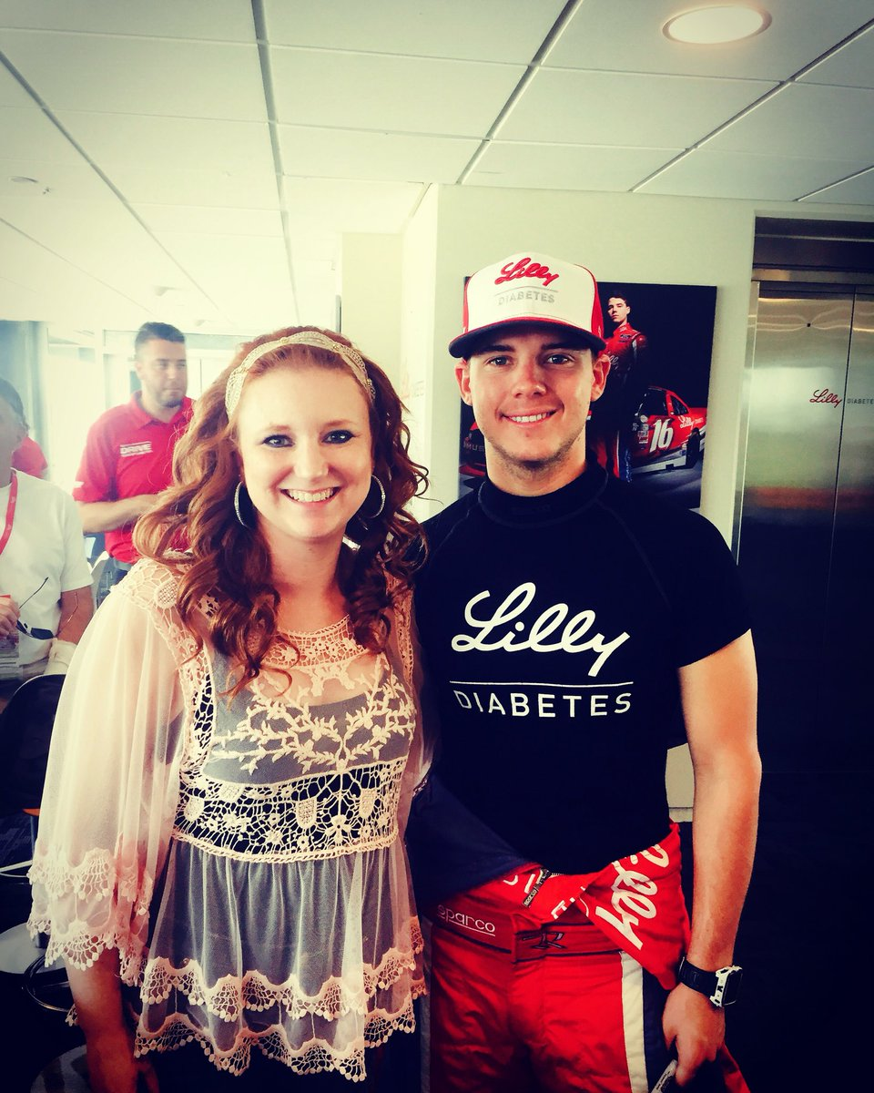 Hanging w/my fave @NASCAR driver @driverRyanReed at @IMS