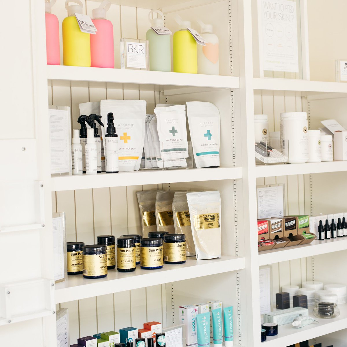 Our café beauty corner. Shop @TheDetoxMarket for natural beauty and wellness products: https://t.co/NU0kCnq9zA https://t.co/HBIgsAF72q