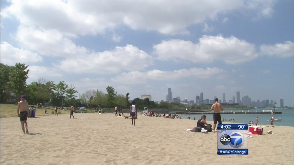 Thanks, rain. Chicago beaches closed to swimming Sunday after heavy rains.