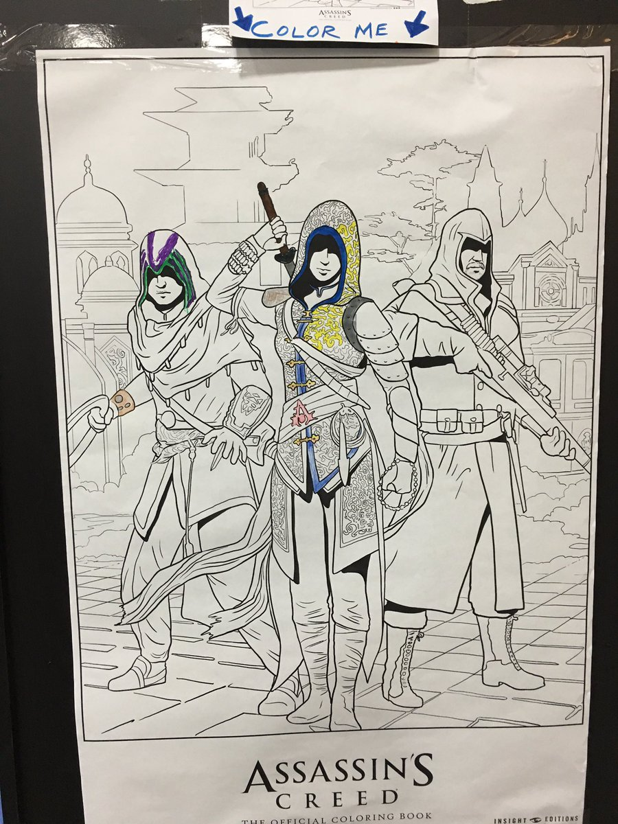 Assassin S Collectibles On Twitter Assassin S Creed The Official Coloring Book By Insighteditions Part 2 Assassinscreed Ubisoft Insighteditions