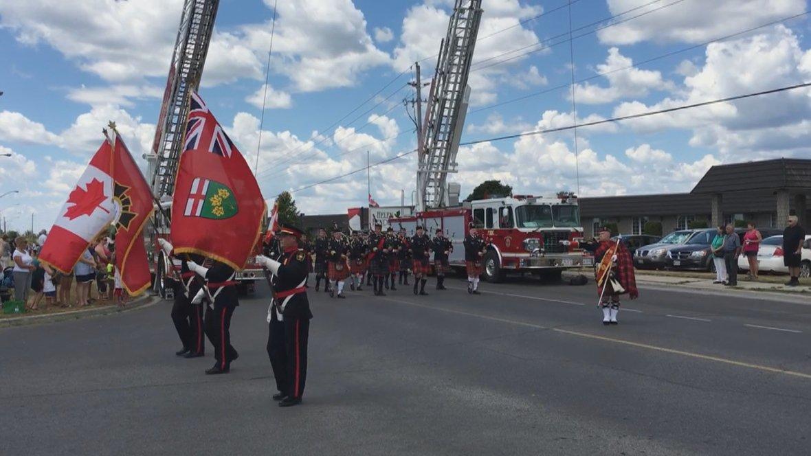 Hundreds pay tribute to firefighter killed in Kingston-area blaze