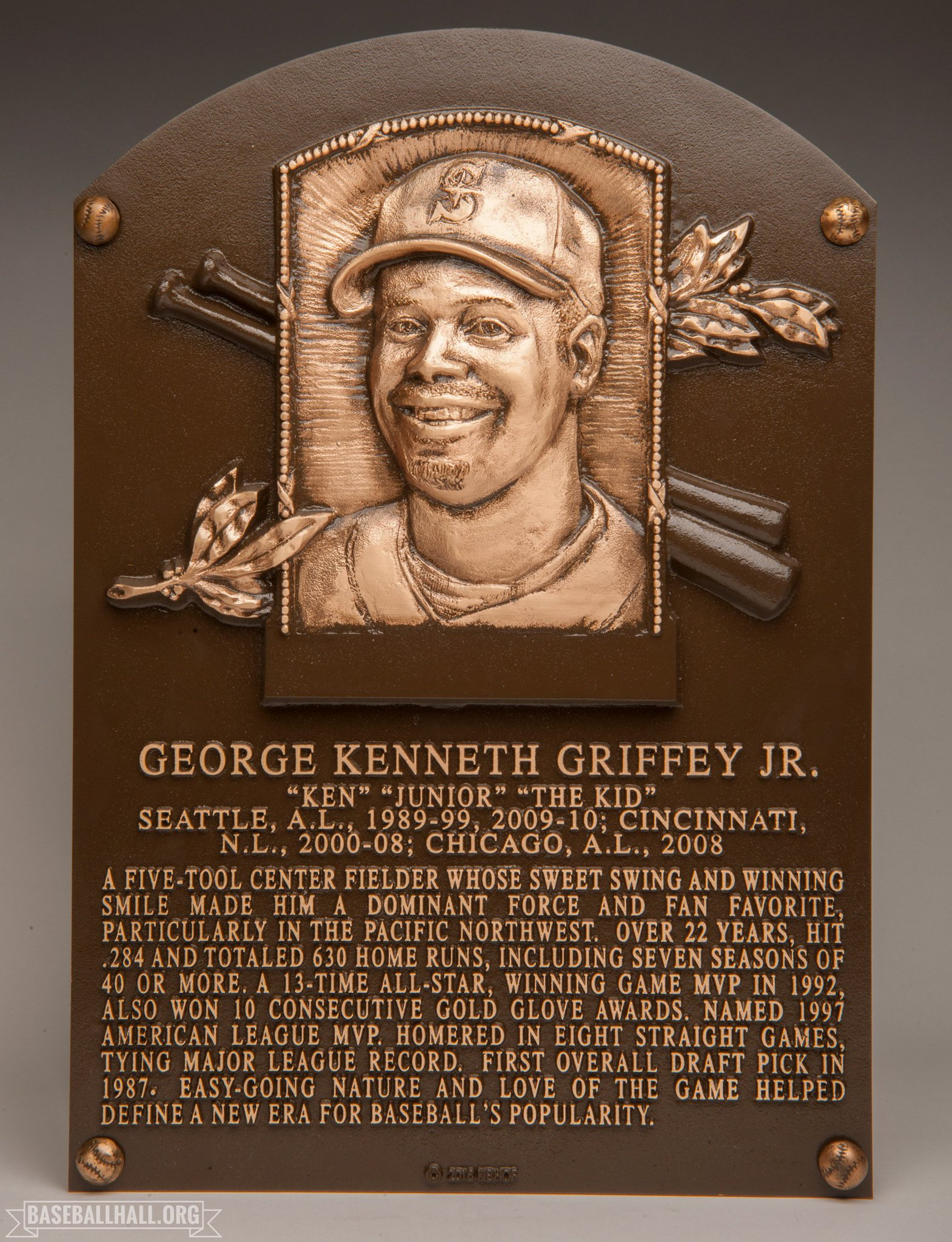 Thumbnail for Ken Griffey Junior inducted into Baseball Hall of Fame