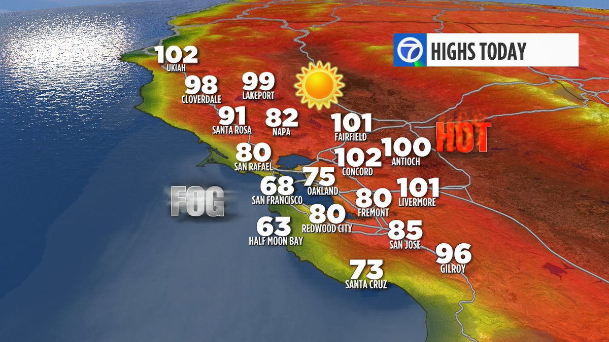 OFFICIAL HIGHSBaking Inland. Chilly Coast. Welcome to July in the Bay Area.