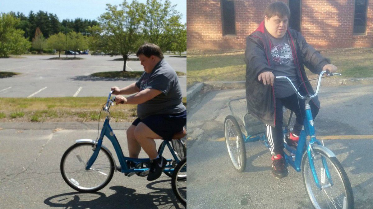 Nonprofit replaces stolen trike for man with Down Syndrome