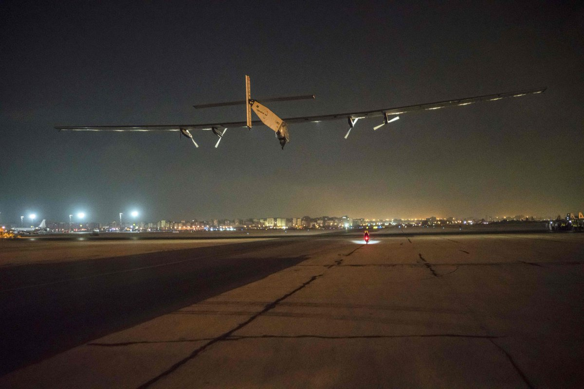 Solar-powered plane Solar Impulse 2 begins final leg of around-the-world trip.