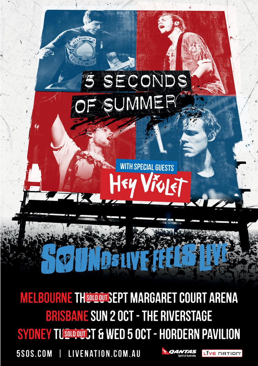 5sos concert dates in Australia