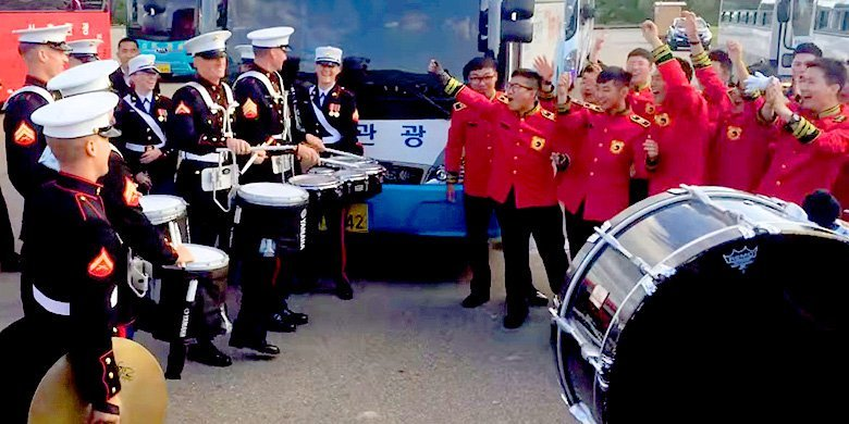US Marines Take On The Republic Of Korea In An Epic Drum Battle https://t.co/wcYnEC4dtt https://t.co/TobeUs9ibj