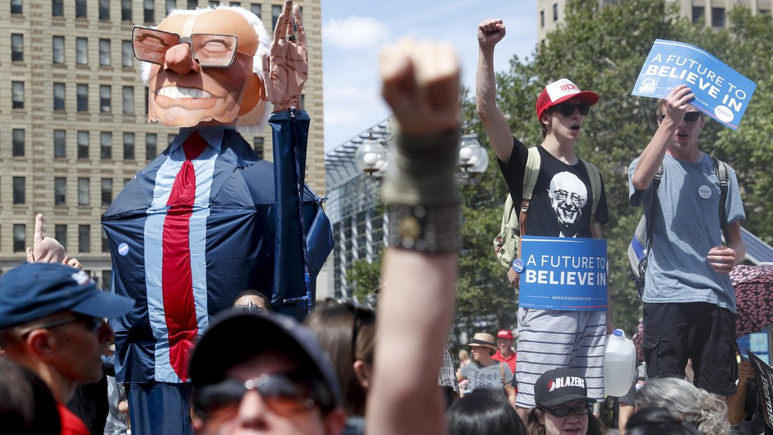 Protesters at DNC in Philadelphia: