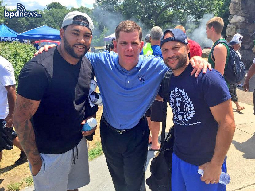 Great time had by all - including @marty_walsh - at the 11th Annual Scoops-n-Hoops basketball tourney in Mattapan!!!