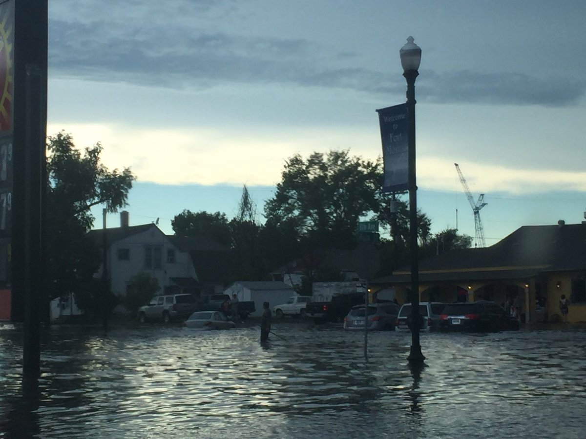 Here's another one of Main St. Flooding in Fort Morgan. Courtesy Debbie Gallegos. @9NEWS 9wx