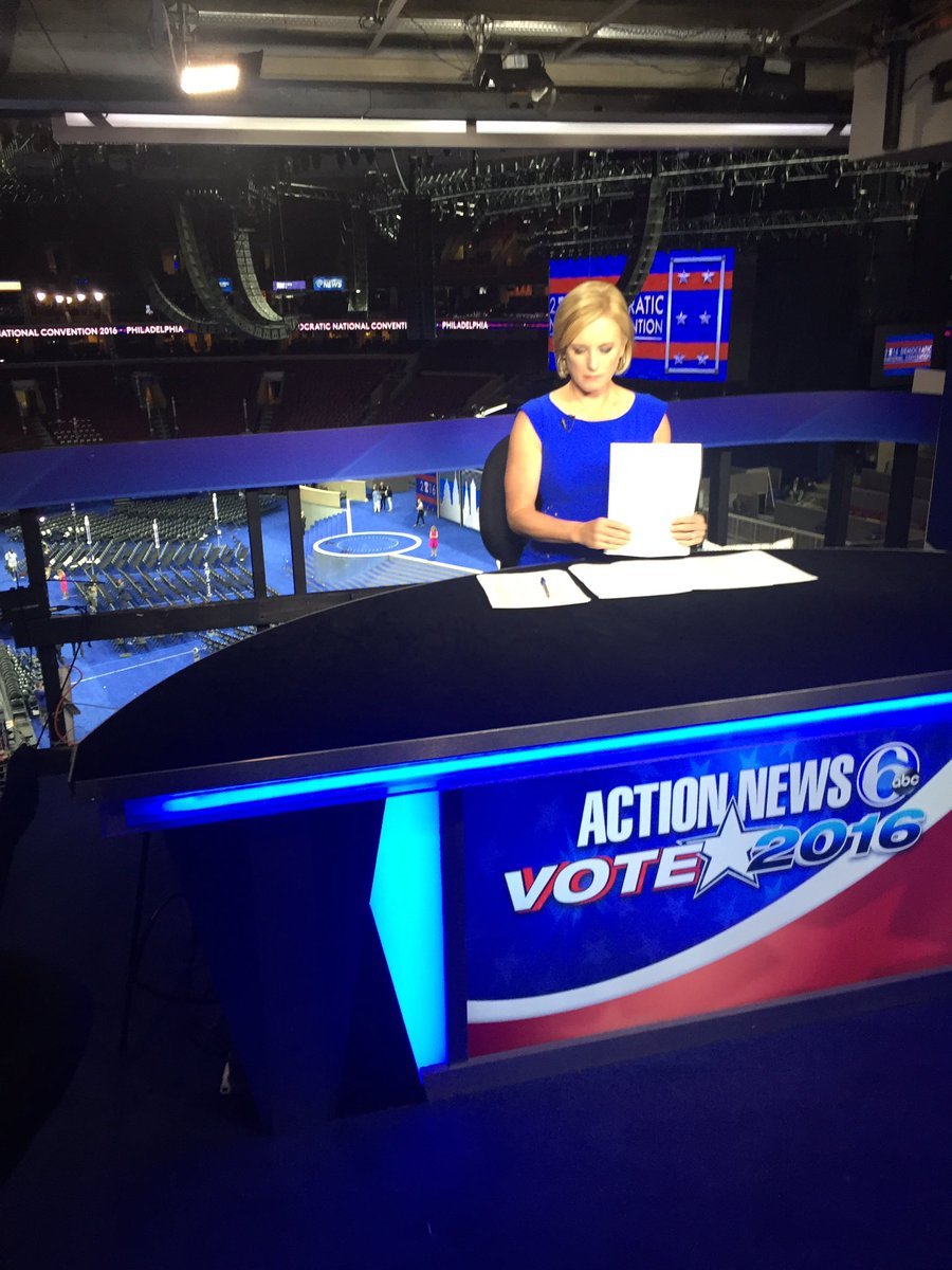Action News at 11 starts now - @sarahbloomquist is live at the DNC2016
