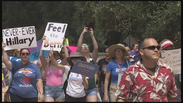 Sanders supporters hold Houston, nationwide rallies ahead of DNC