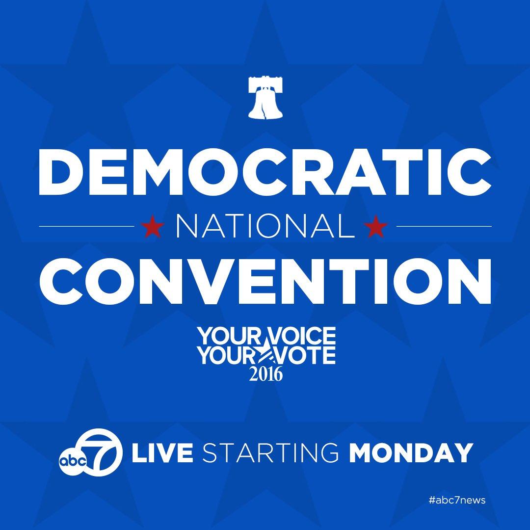 DemocraticNationalConvention gets underway tomorrow. Get live coverage here when it starts