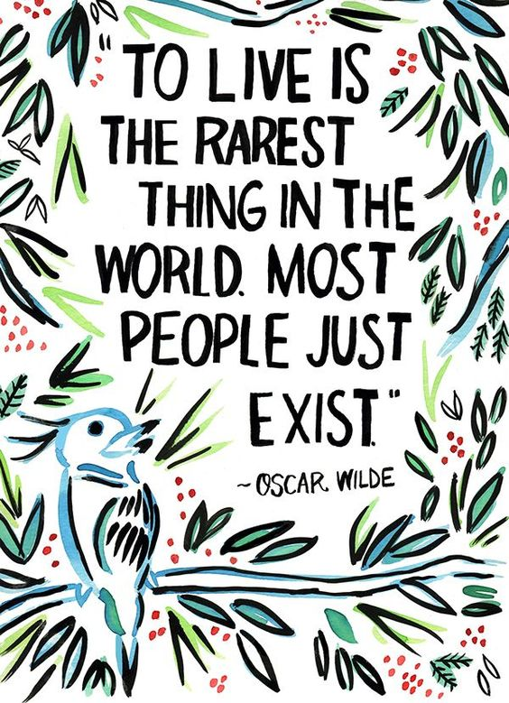 """""""To live is the rarest thing in the world. Most people just exist."""" - Oscar Wilde  #MondayMotivation #Quotes https://t.co/Uc6JJWPfuZ"""