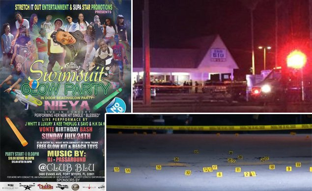 At least 2 dead, 14-16 wounded in Fort Myers club shooting; cops apprehend 3 people