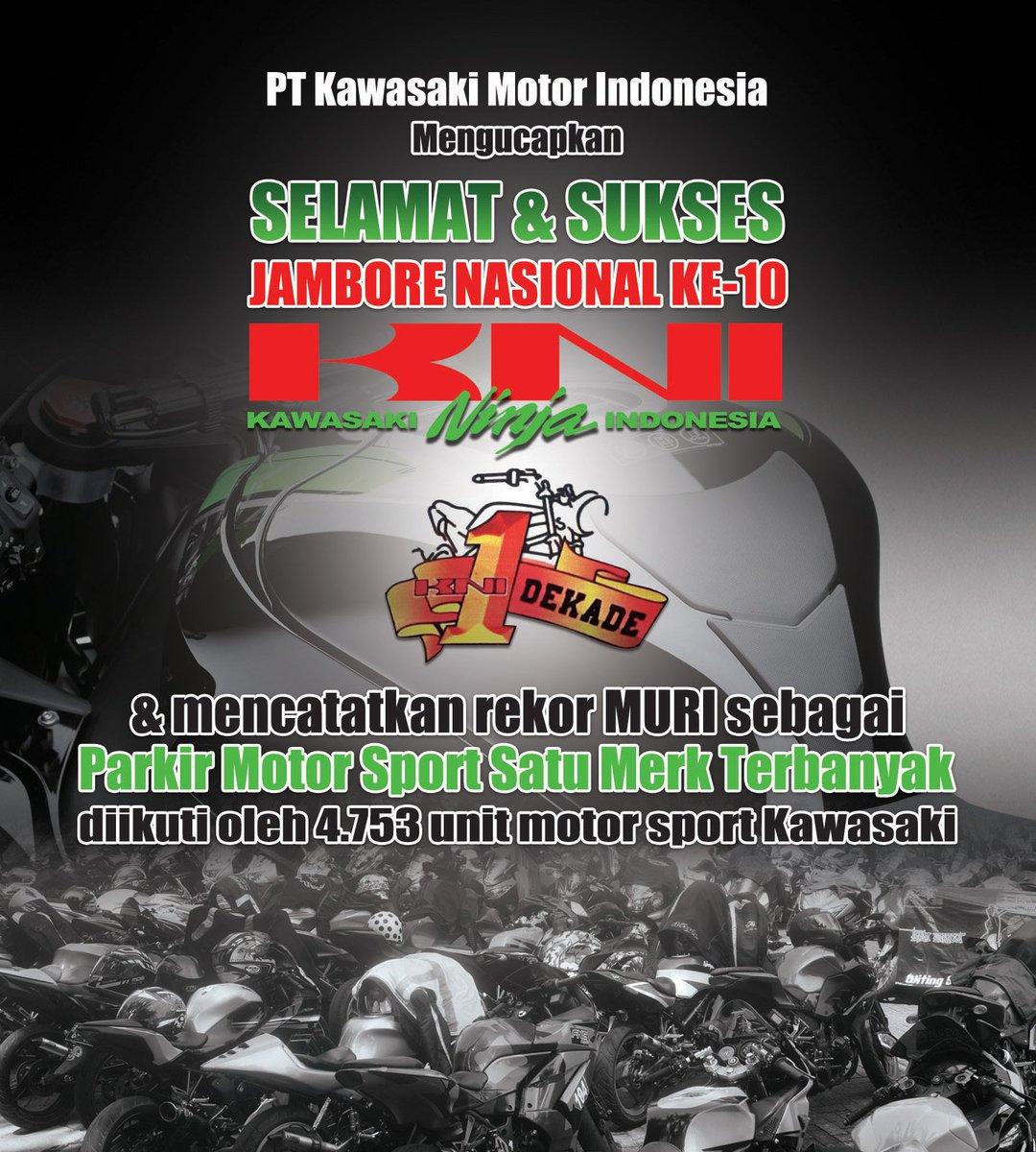 Kawasaki Indonesia בטוויטר Selamat Kepada Kni Yang Berhasil Tercatat Dalam Muri Dengan Rekor Parkir Motor Sport Satu Merk Terbanyak