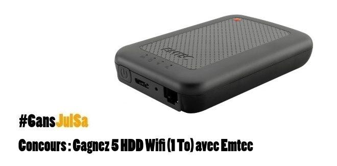 #Concours : 5 HDD Wifi (1 To) avec @EMTECIntl en commentant sur https://t.co/QAy4KdfNHG puis Follow @JulSa_ + RT https://t.co/jlNAT9bVzw
