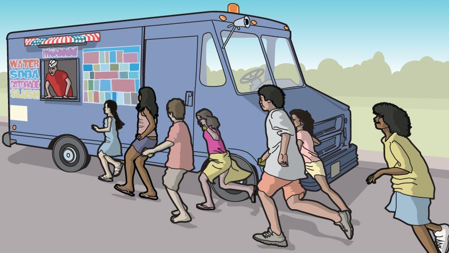 The ice cream truck: A cool respite during a steamy day in Somerville