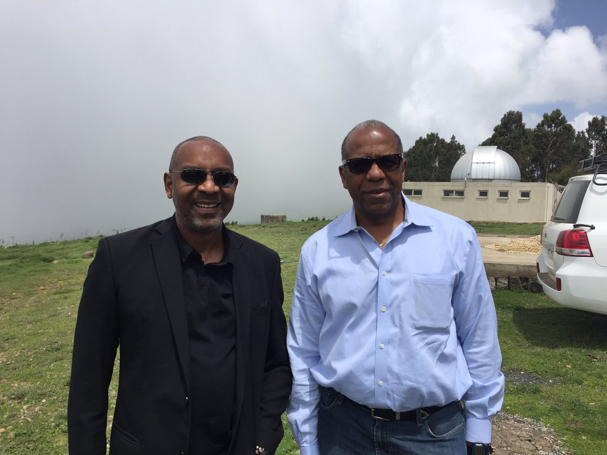 At Entoto observatory in #Ethiopia with @bernardharrisjr we are not the first nor the last astronauts to visit https://t.co/dbQSEjBzAz
