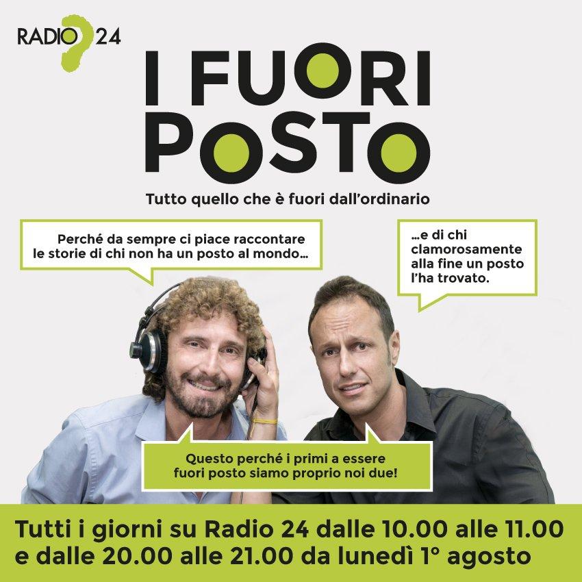 I Fuori posto, a Radio 24 con Le Iene: l'inviato Filippo Roma e l'autore Umberto Alezio