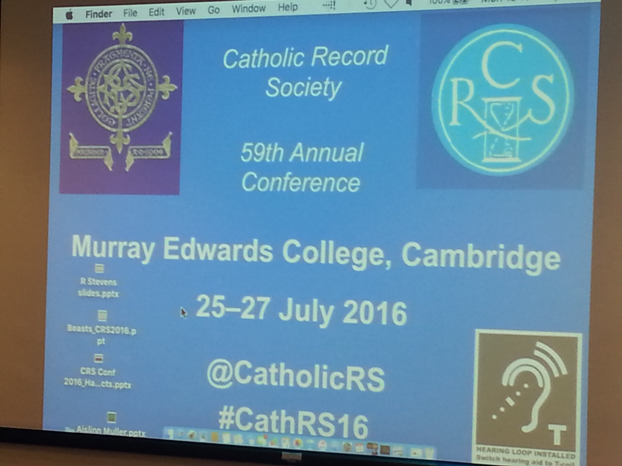 Eager for the start of #CathRS16 @CatholicRS16, organised this year by @onslies @HannahJane85 https://t.co/qtxgBSy7wf