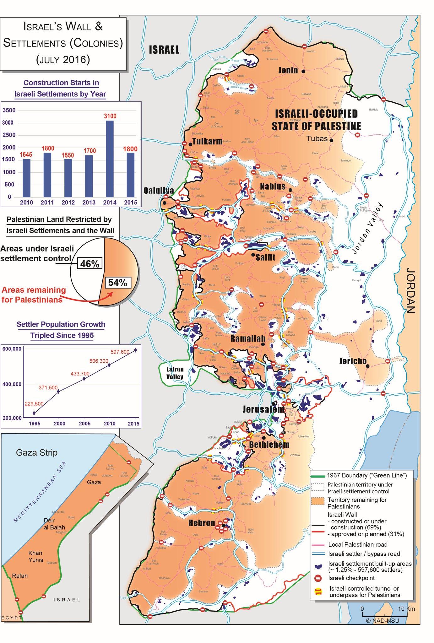 Palestine PLONAD on Twitter July 2016 Map Israeli settlements