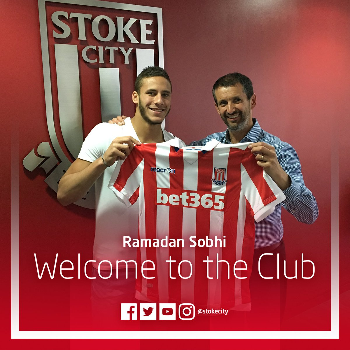 BREAKING | Stoke City are delighted to announce the signing of @RamadanSobhi from Egyptian Champions @AlAhly #SCFC