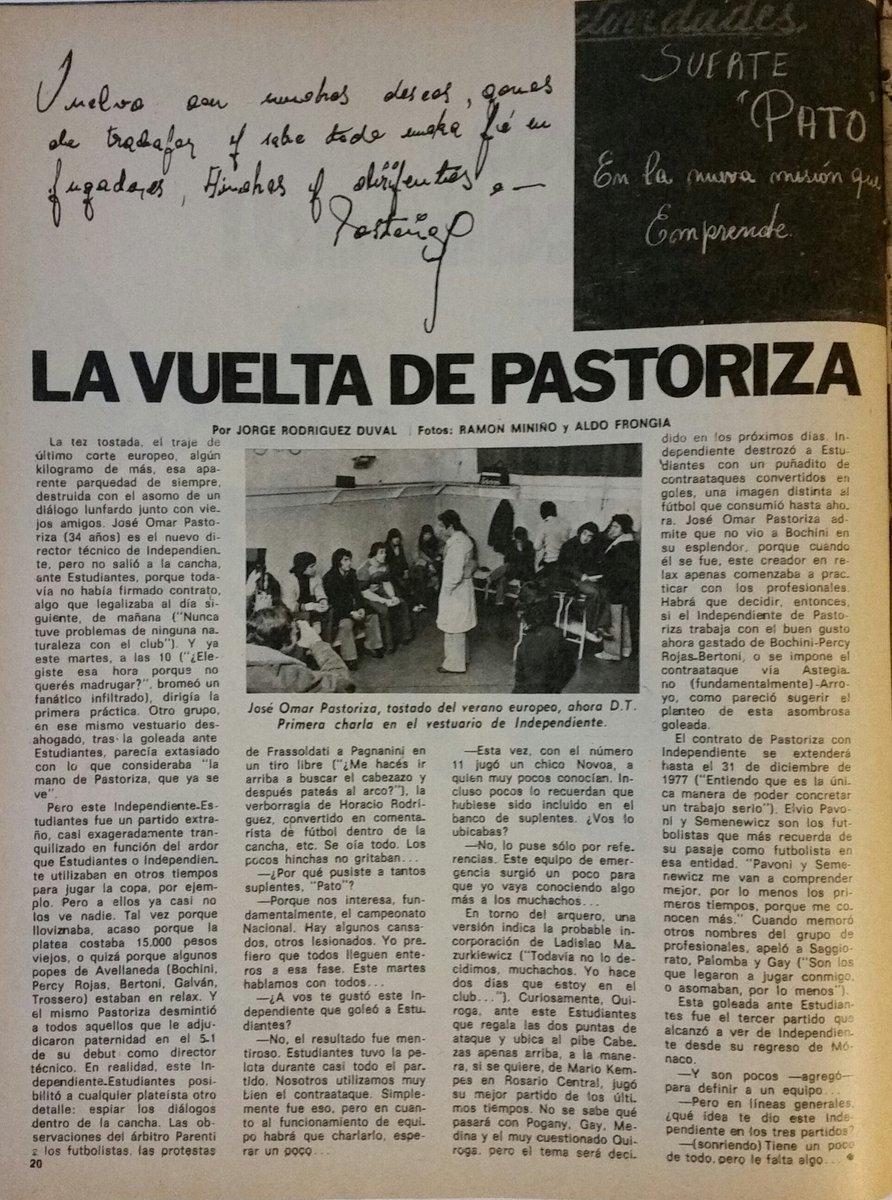 A 40 años del debut de Pastoriza como DT