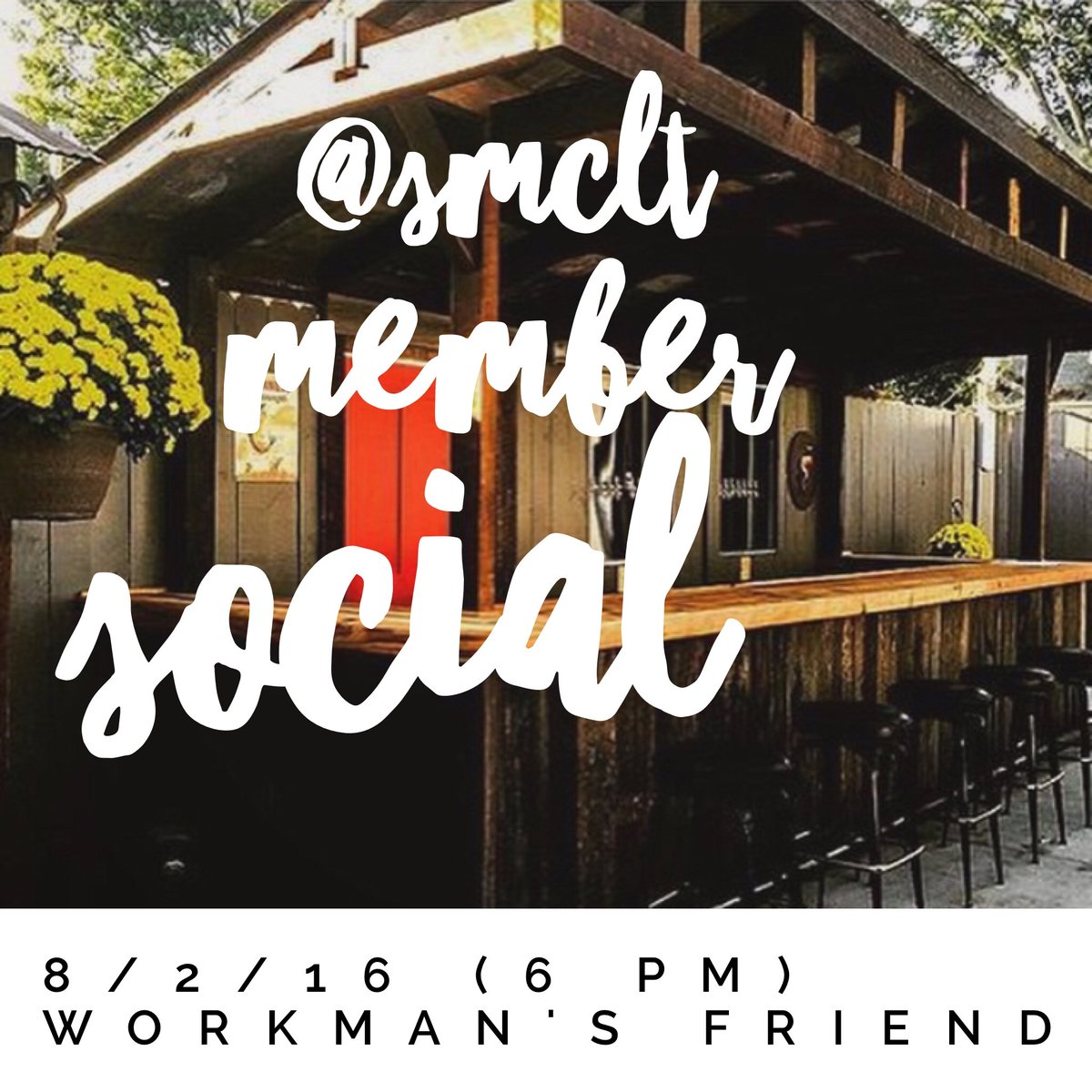 Members! Meet up w/ us for a beer next Tuesday! 1st round is on @yellowcabclt (current members)