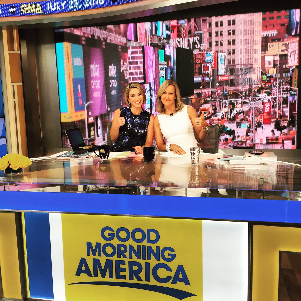 Holding down the fort with @arobach while @GStephanopoulos and @RobinR...