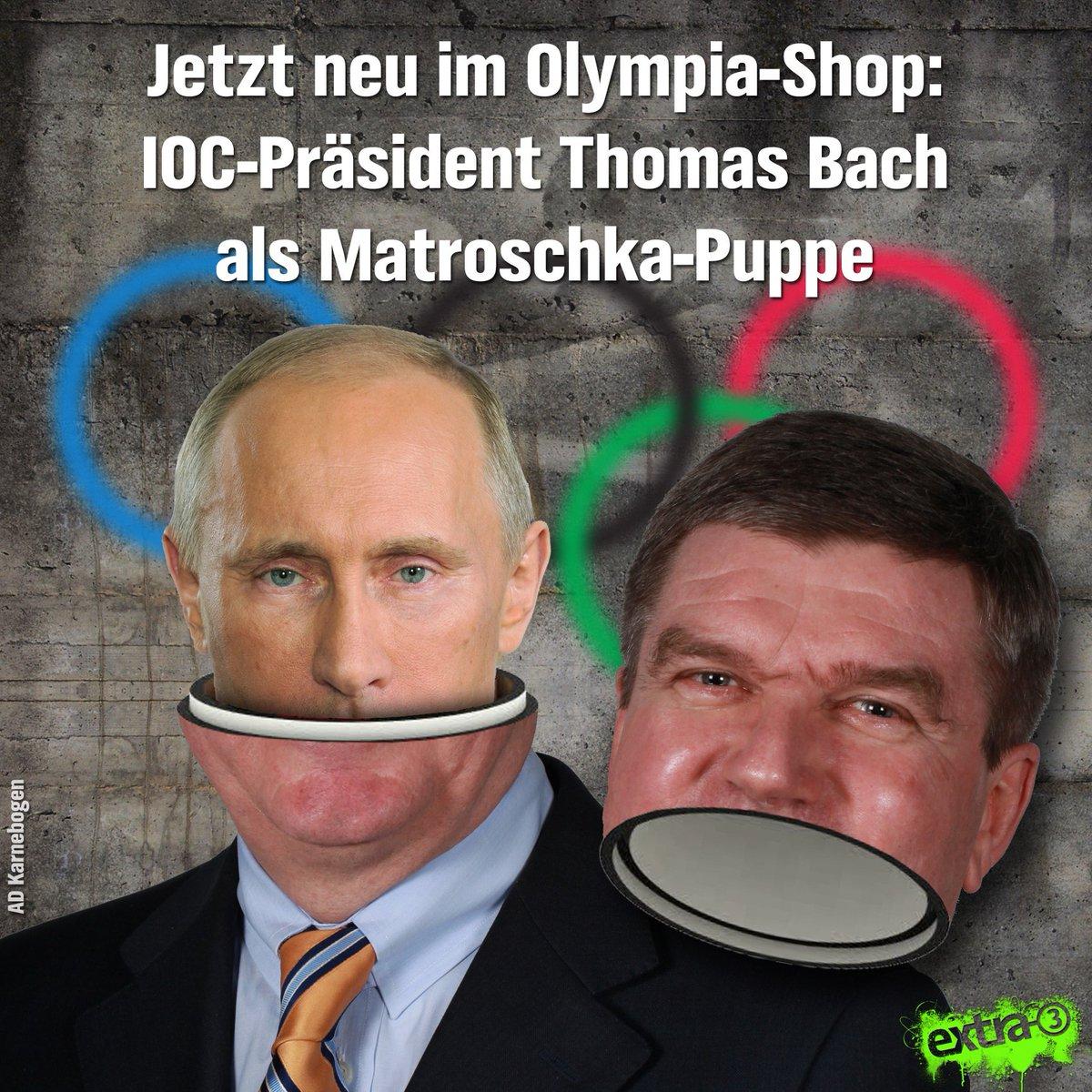 Nur solange der Vorrat reicht! #Bach #Doping #IOC
