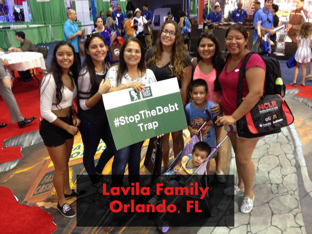 The Lavila family supports a strong payday loan rule to #StopTheDebtTrap: https://t.co/3BYLJ33BUI #NCLR16 https://t.co/2WyKH1Whkm