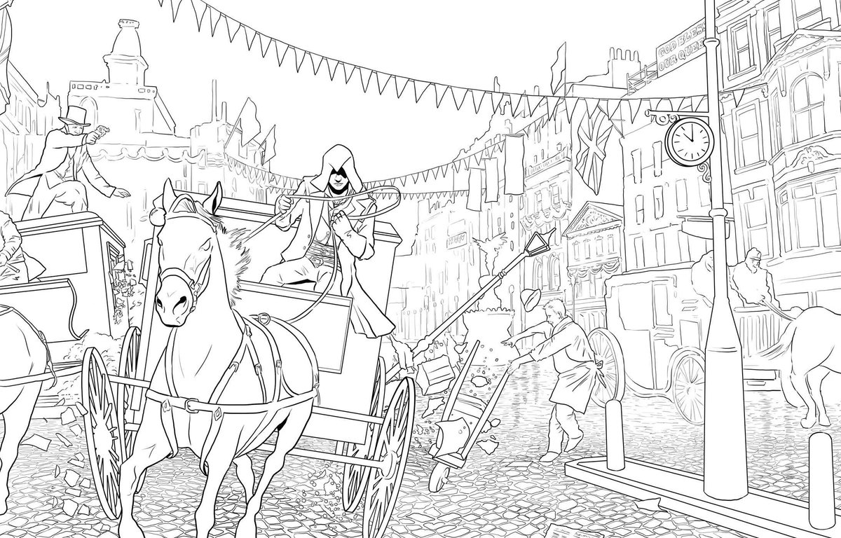 Assassin's Creed #6 (Video Games) – Printable coloring pages | 768x1200