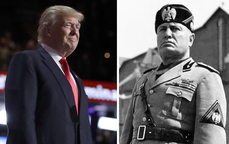 Benito Mussolini telling Italian immigrants to
