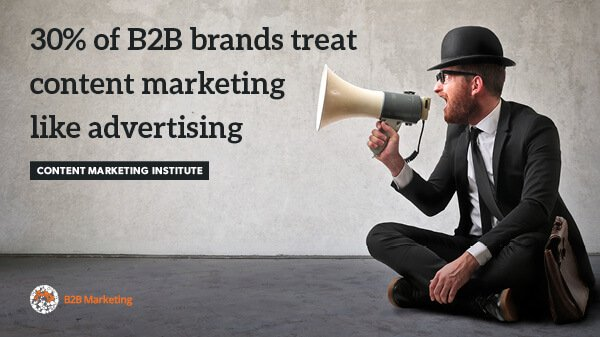Why do B2B marketers still treat content marketing like a sales pitch? https://t.co/wn6L8gemvM https://t.co/FJfhbt0hxp