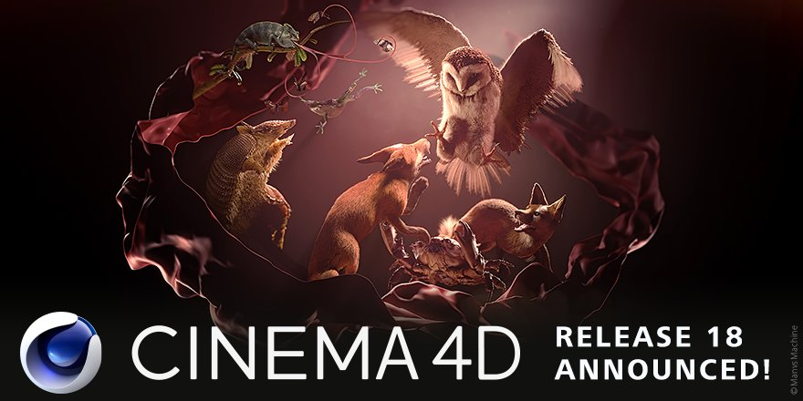 #Cinema4D Release 18 announced! Check it out on our website https://t.co/cHMFU4xu6b #C4D #C4DR18 https://t.co/cMRJGP73Yr