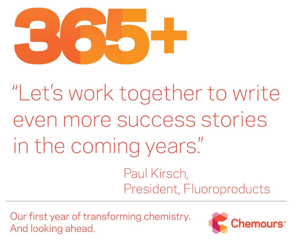 The Chemours Company בטוויטר: