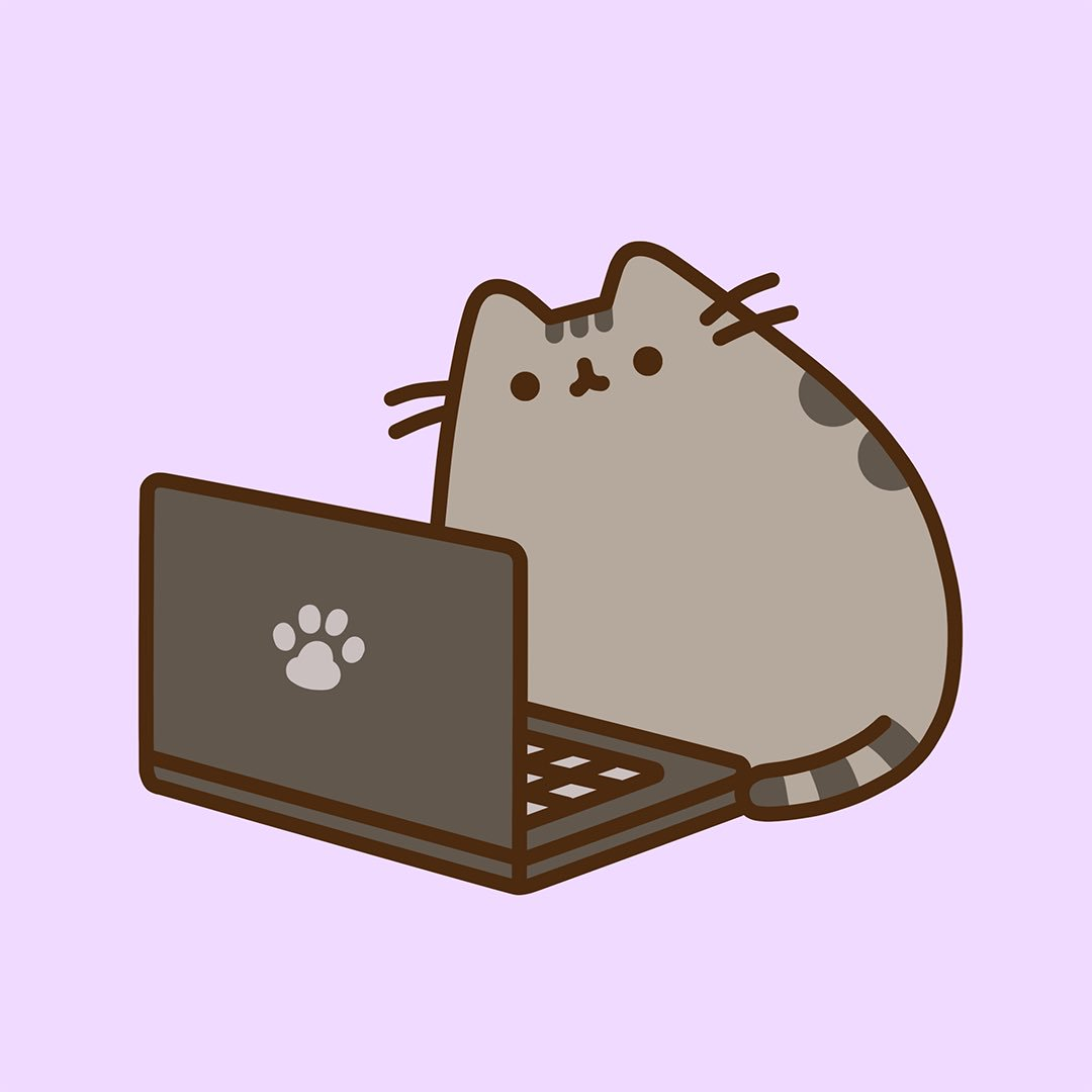 pusheen the cat on twitter it s monday time to get back to work