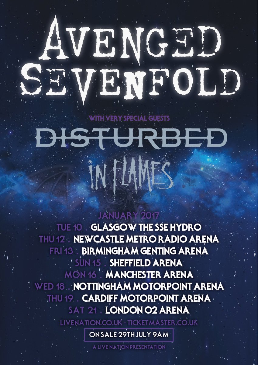 Avenged Sevenfold On Twitter Announce 2017 UK Tour With Disturbed And InFlames SWE Tco 12ezjxgP37