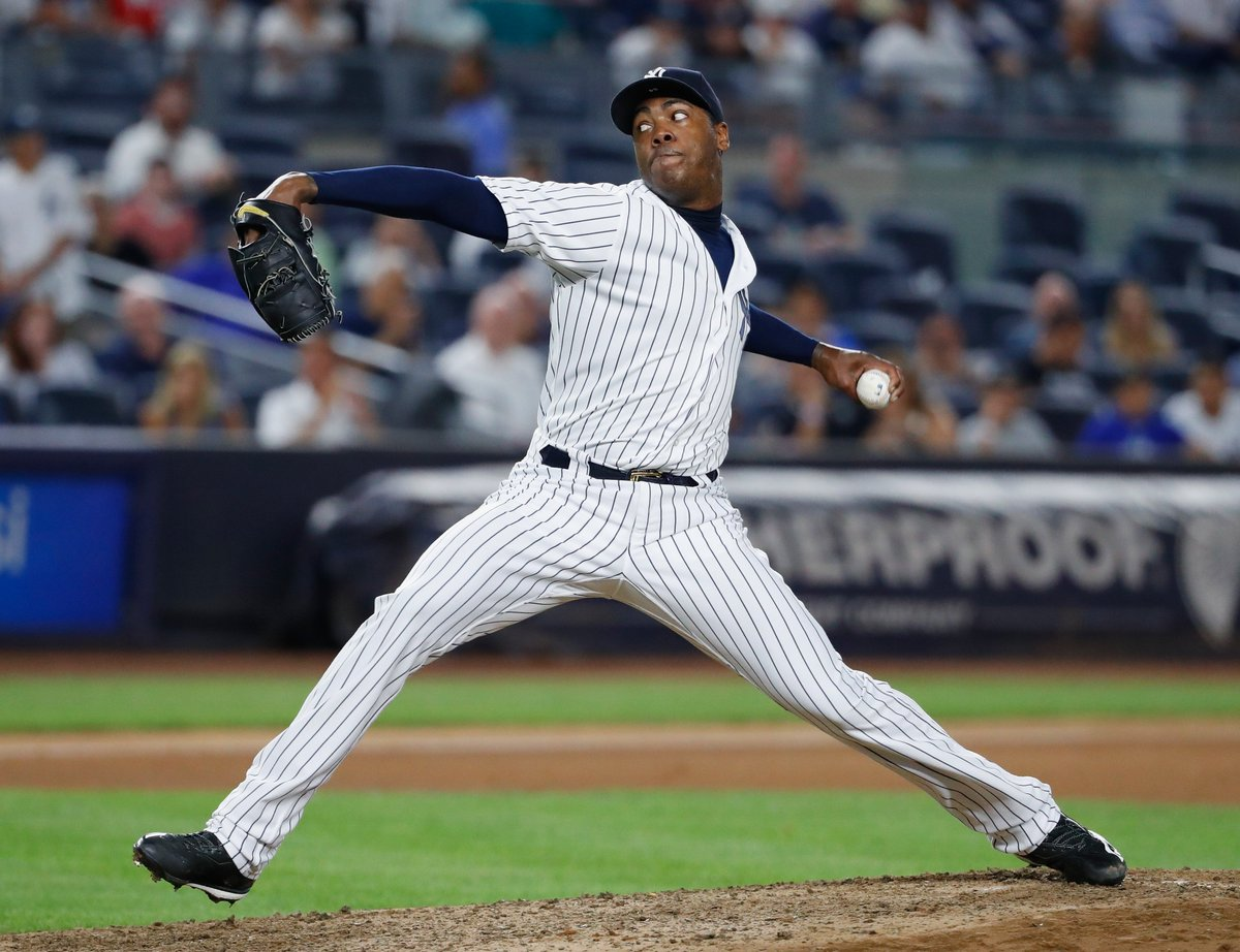 Cubs acquire closer Aroldis Chapman from Yankees in boldest move of Theo Epstein era yet.