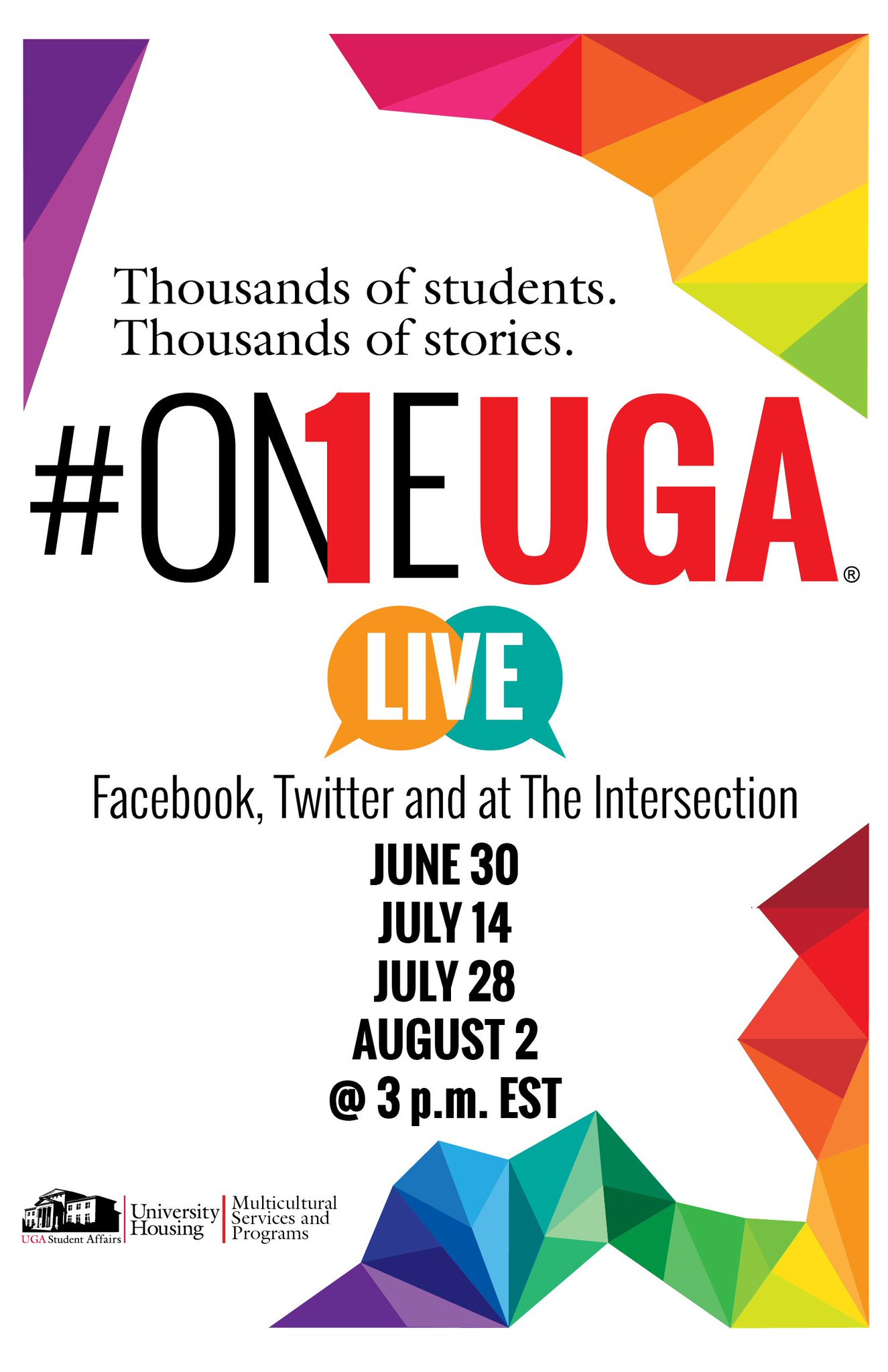 Calling all #UGA students & alumni! The #OneUGA chat is THIS Thurs & next Tues at 3 p.m. Share your #UGA experience. https://t.co/aaS9h5q98p