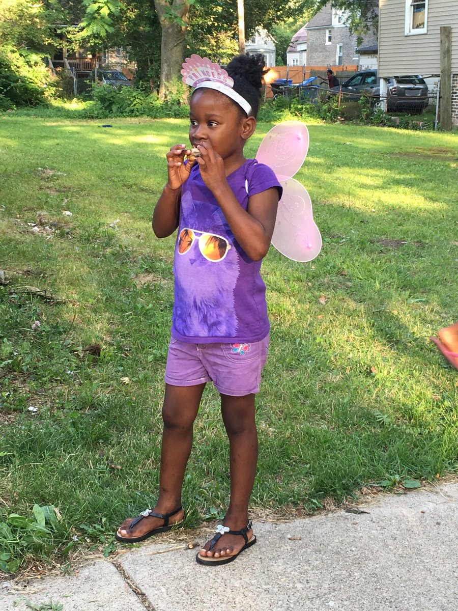 Shot in the stomach outside her Englewood home, 6 yr old Tacara Morgan is home from the hospital @ABC7Chicago