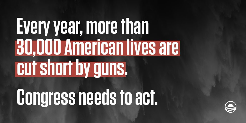 RT @BarackObama Actively ignoring this epidemic is unacceptable. Congress has to act. #DisarmHate