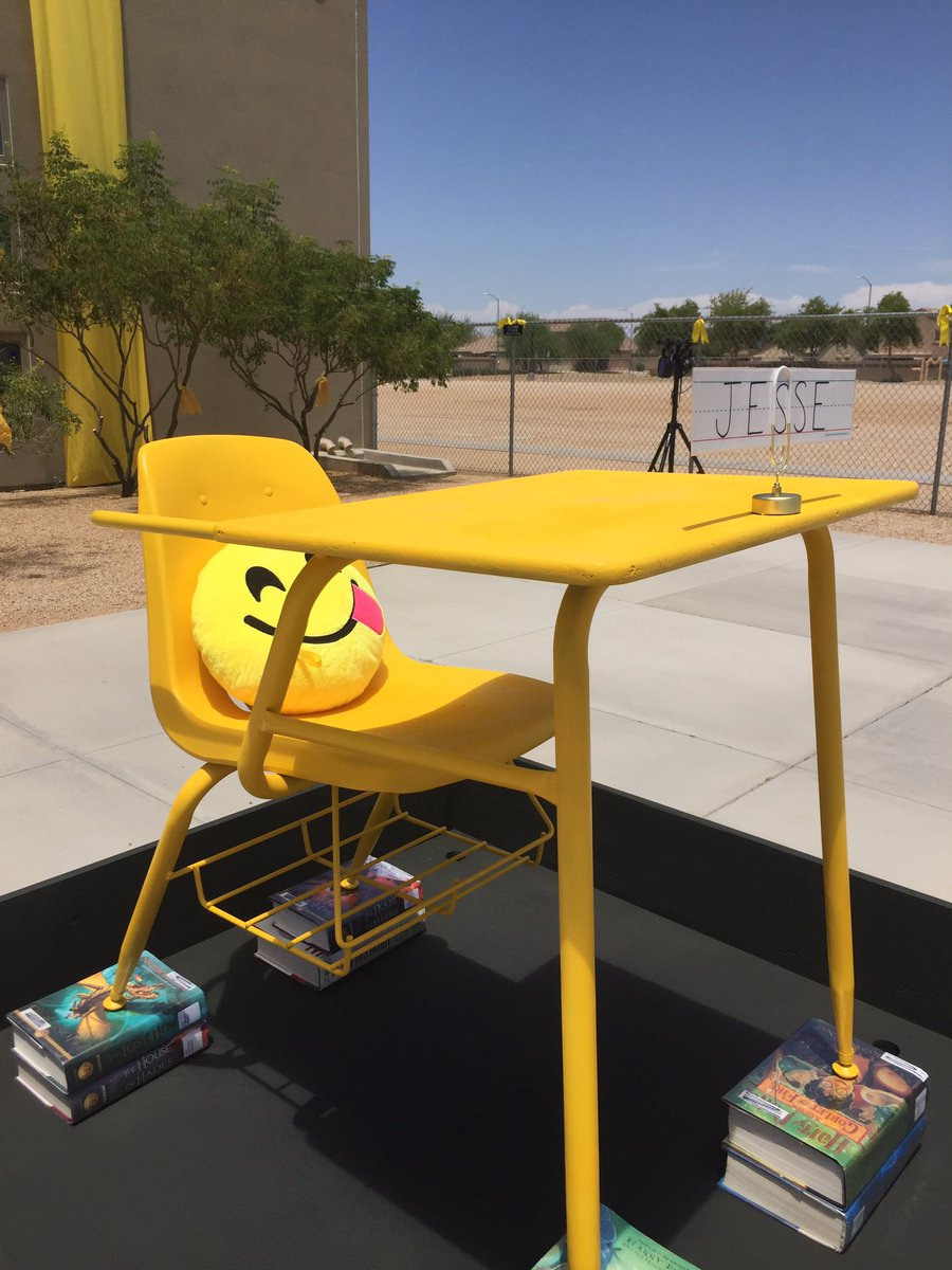 School has painted Jesse's desk and left it out front for him. He's been missing for eight days now. abc15
