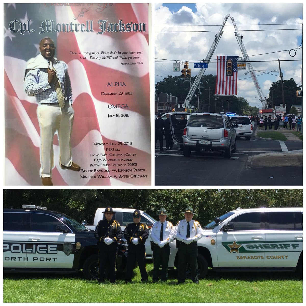 SCSO was honored to stand w/@BRPD during a celebration of life for fallen Officer Montrell Jackson. #WeStandWithLA