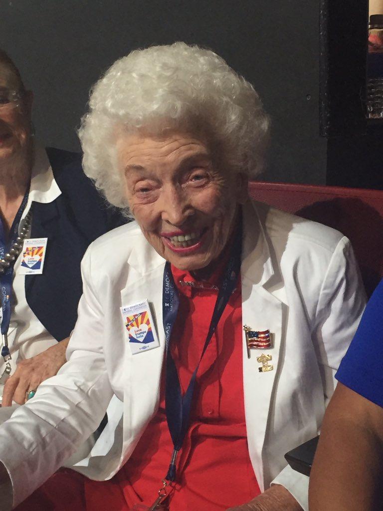 Jerry Emmett 102 Yrs Old Started The Hillary Fan Club