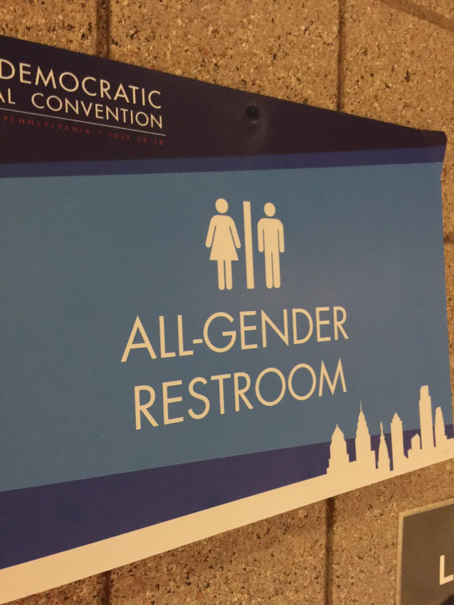 There aren't women's restrooms or men's Restrooms at the dncinphl.